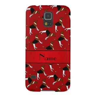 Personalized name red american foxhound dogs galaxy s5 covers