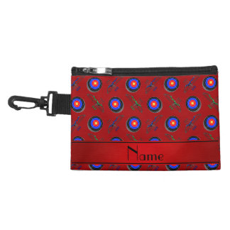 Personalized name red archery accessory bag
