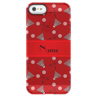 Personalized name red badminton uncommon permafrost® deflector iPhone 5 case