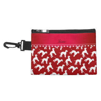 Personalized name red bedlington terrier dogs accessories bags