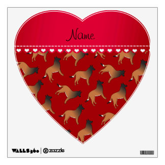 Personalized name red belgian tervuren dogs room graphic