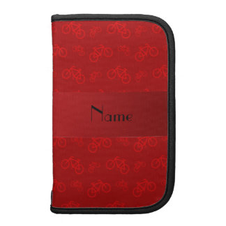 Personalized name red bicycle pattern planner