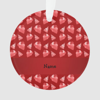 Personalized name red birthday pattern