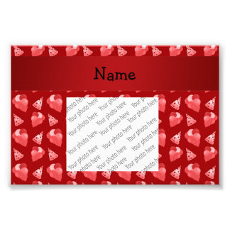 Personalized name red birthday pattern art photo