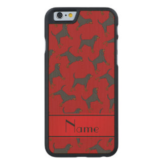 Personalized name red black tan coonhounds carved® maple iPhone 6 slim case