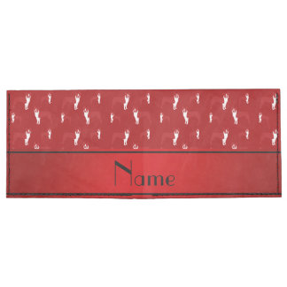 Personalized name red boston terrier tyvek wallet
