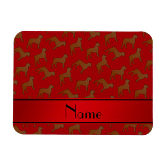 Personalized name red Bouvier des Flandres dogs Rectangular Photo Magnet