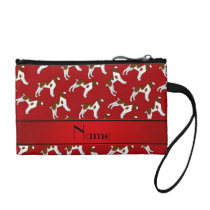 Personalized name red brittany spaniel dogs coin purse
