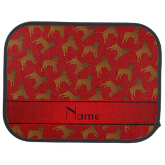Personalized name red brussels griffon dogs car mat