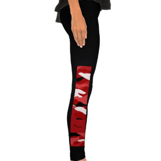 Personalized name red camouflage legging