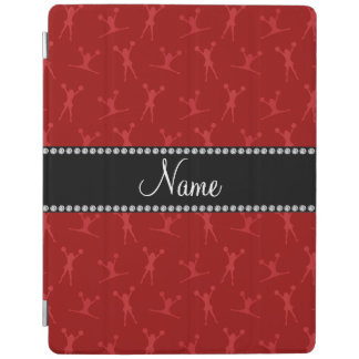 Personalized name red cheerleader pattern iPad cover