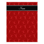 Personalized name red cheerleader pattern letterhead
