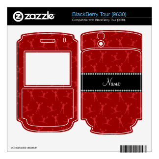 Personalized name red cheerleader pattern skins for BlackBerry