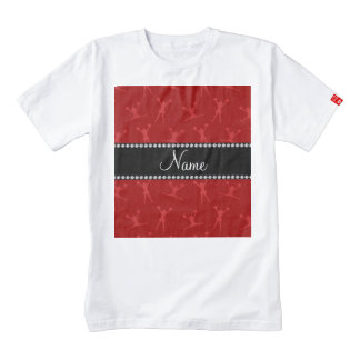 Personalized name red cheerleader pattern zazzle HEART T-Shirt