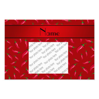 Personalized name red chili pepper art photo
