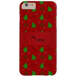 Personalized name red christmas stars barely there iPhone 6 plus case