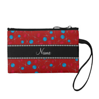 Personalized name red crochet pattern change purse