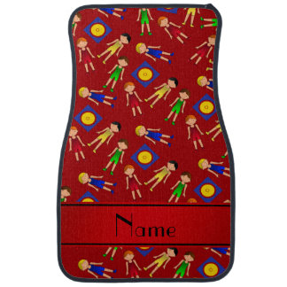 Personalized name red cute boy wrestlers mat