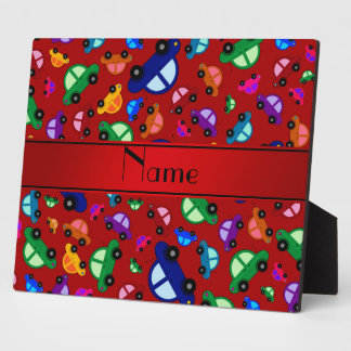 Personalized name red cute car pattern display plaques