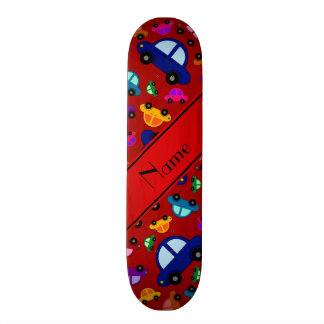 Personalized name red cute car pattern skate boards