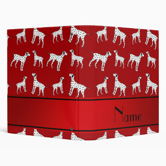 Personalized name red dalmatian dogs 3 ring binder