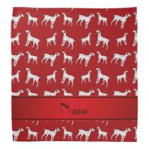 Personalized name red dalmatian dogs bandana
