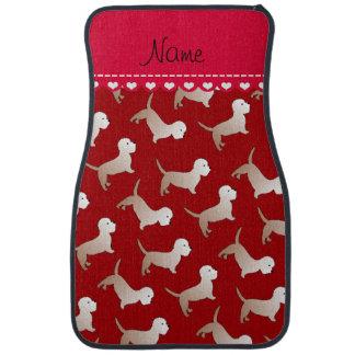 Personalized name red dandie dinmont terriers car floor mat