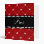 Personalized name Red diamonds Binders