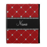 Personalized name Red diamonds iPad Cases