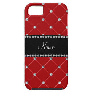 Personalized name Red diamonds iPhone 5 Cases