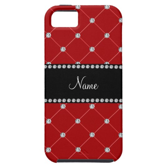 Personalized name Red diamonds iPhone SE/5/5s Case