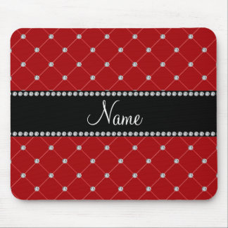 Personalized name Red diamonds Mouse Pad