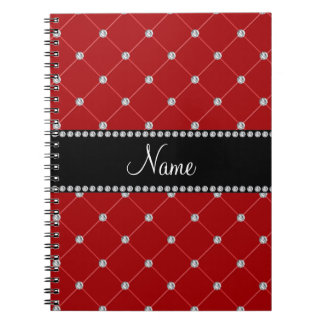 Personalized name Red diamonds Journals