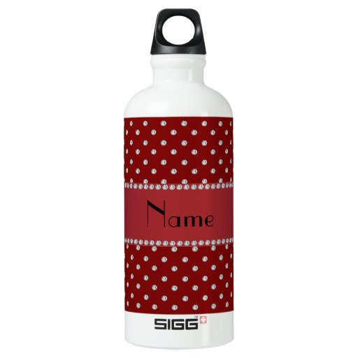 Personalized name red diamonds SIGG traveler 0.6L water bottle