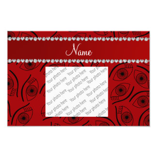 Personalized name red eye pattern photo print