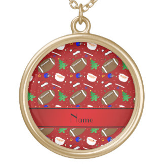 Personalized name red football christmas pendant