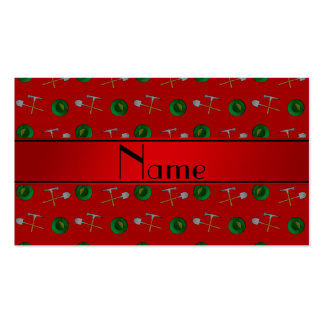 Personalized name red gold mining Double-Sided standard business cards (Pack of 100)