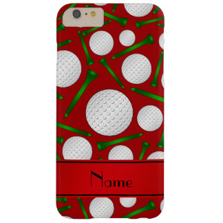 Personalized name red golf balls tees barely there iPhone 6 plus case