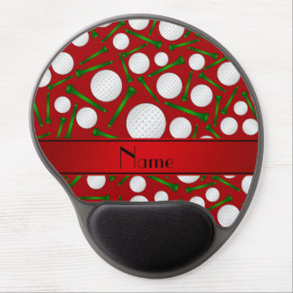 Personalized name red golf balls tees gel mouse pads