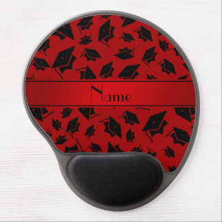 Personalized name red graduation cap gel mouse pad