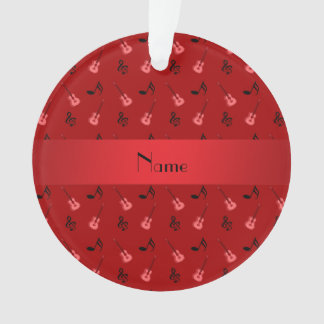 Personalized name red guitar pattern
