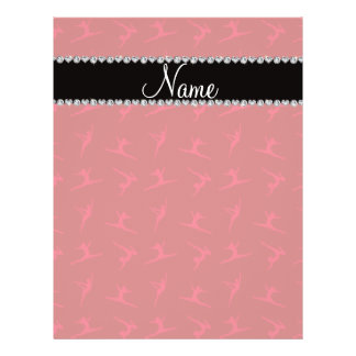 Personalized name red gymnastics pattern custom flyer