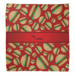 Personalized name red hamburger pattern bandana