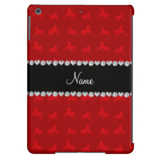 Personalized name red horse pattern iPad air cover