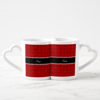 Personalized name red horse pattern lovers mug sets
