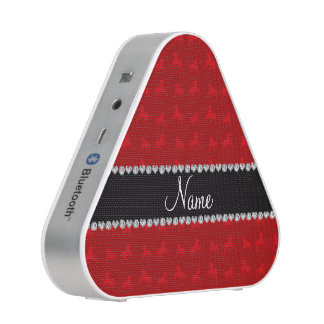 Personalized name red horse pattern speaker