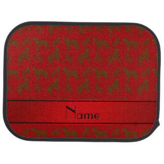 Personalized name red Irish Water Spaniel dogs Car Mat