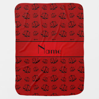 Personalized name red justice scales swaddle blanket
