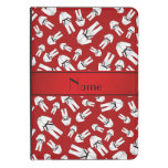 Personalized name red karate pattern kindle case