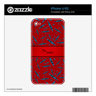 Personalized name red kayaks skins for the iPhone 4